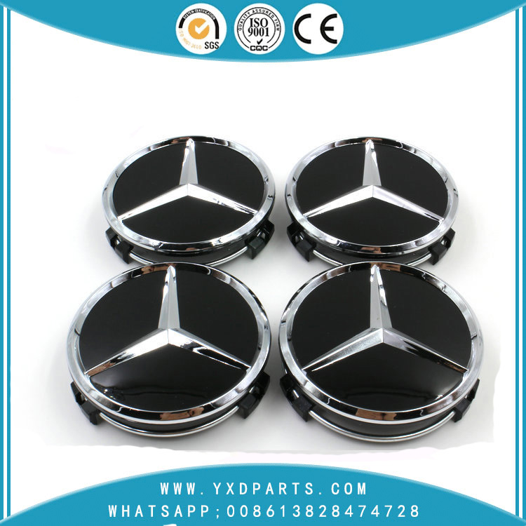 75MM Car Logo Emblem Wheel Center Caps For Mercedes-Benz